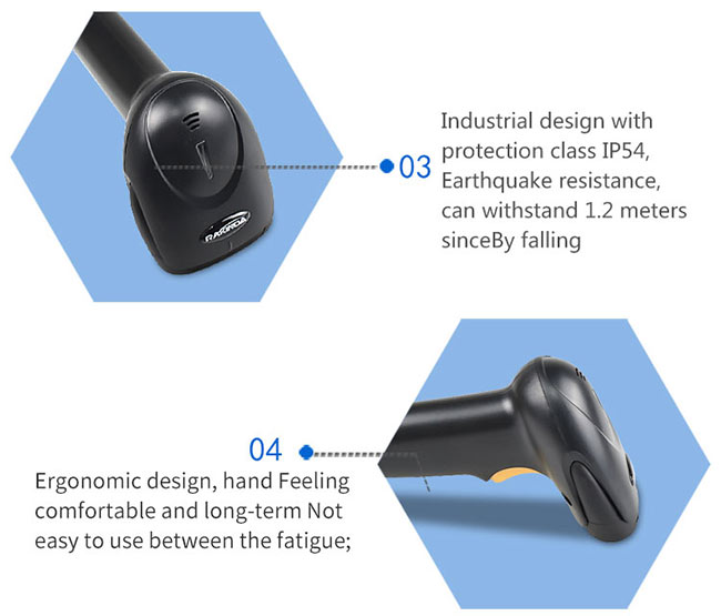 Long Range Portable Barcode Reader , Wired USB Computer Barcode Scanner Lable Gun For Payment