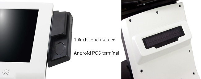 Mini Android Pos Terminal Machine LCD LED Backlight For Payment Environment