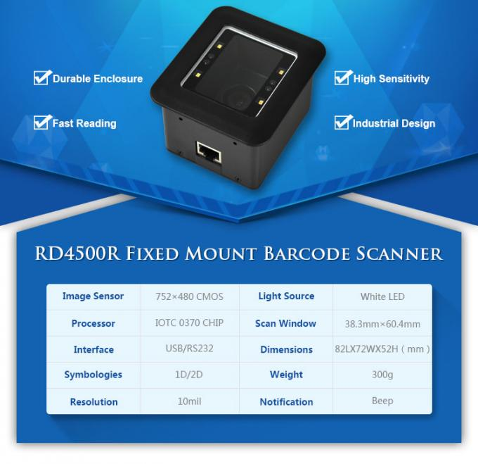 OEM Barcode Scanner Module RD4500R Phone Screen / Paper Excellent Scanning