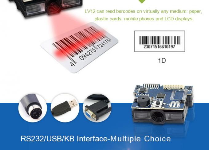 Fast Processor 1D Barcode Scanner Module Linear CCD Sensor Image Recognition System