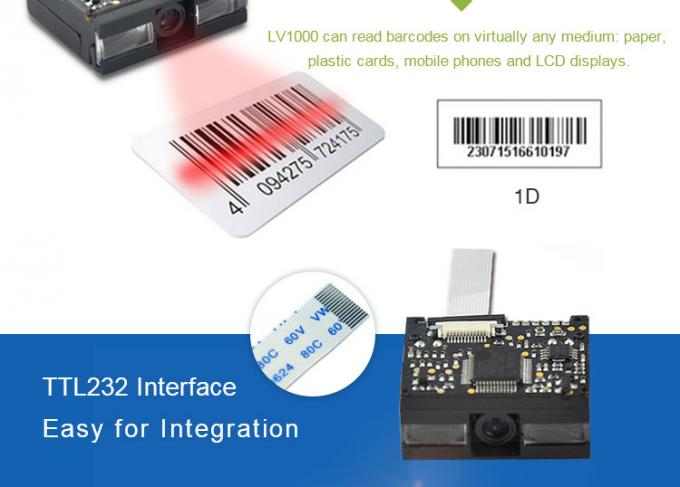 LV1000 1D Barcode Scanner Module Highly Integrated Ticketing Machines PDAs Application