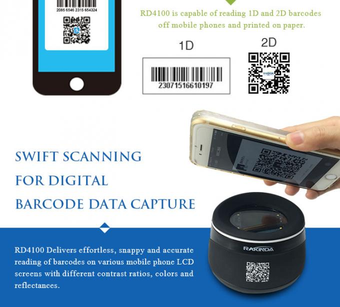 1.75W Desktop Barcode Reader Module RD4100 Excels At Reading Phone Screen
