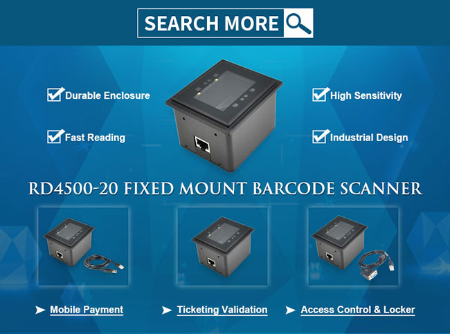 RD4500-20 Barcode Scanner Module IP65 Phone Screen Scanning For Access Control Systems