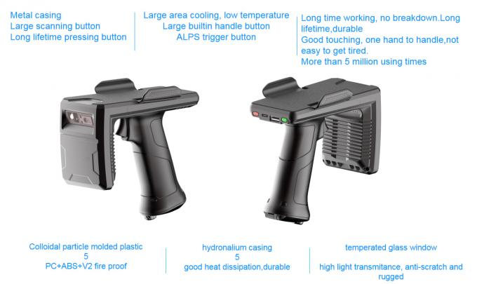uhf rfid handheld reader with metal casing