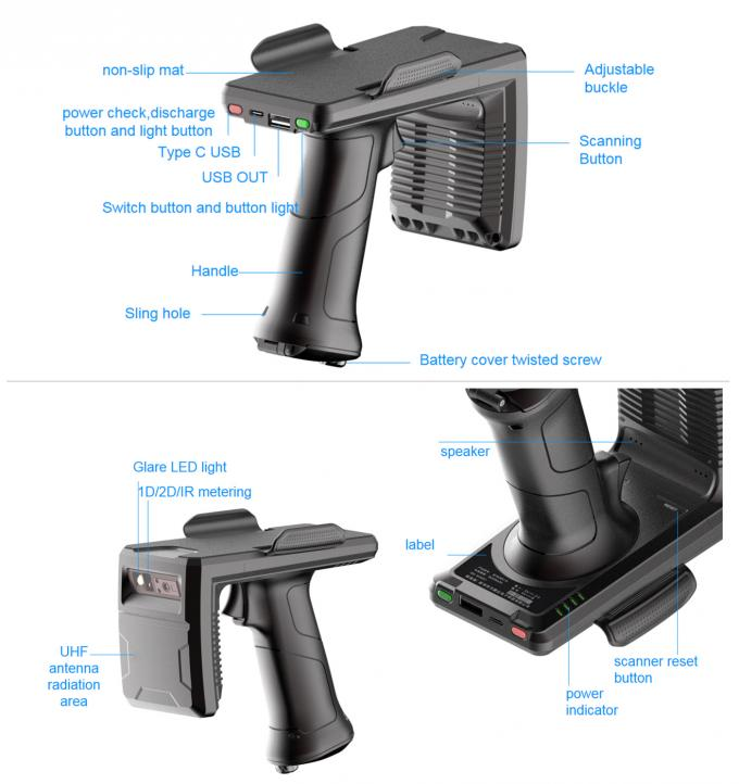 adjustable buckle of this rfid handheld reader
