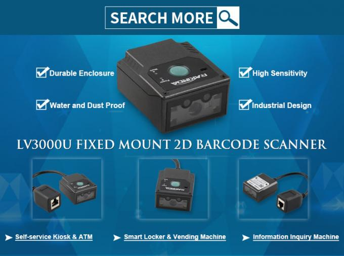 3 Mil Precision Fixed Mount Barcode Scanner 1d 2d USB RS232 Interface Industrial