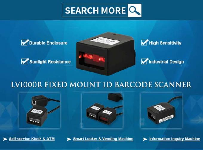 1D Fixed Mount Barcode Scanner USB Interface Embedded Type LV1000R IP54 1